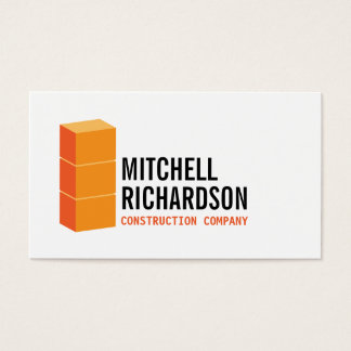 Orange Blocks Logo Construction Builder Contractor