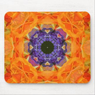 Orange Blossom Kaleido Mousepad