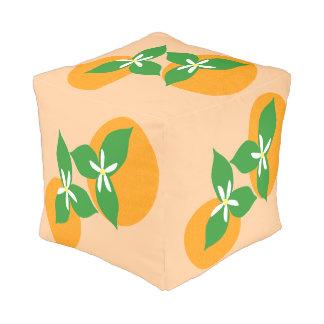 Orange Blossom Cube Pouffe