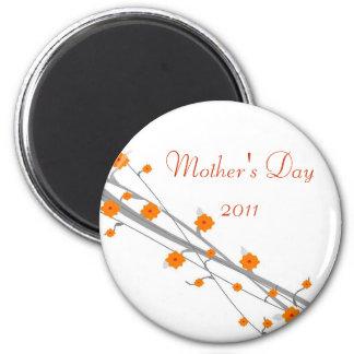 Orange Blossom-mothers day Refrigerator Magnets
