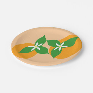Orange Blossom 7 Inch Paper Plate