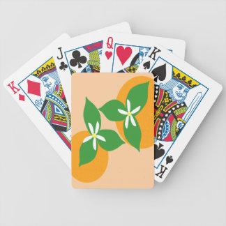 Orange Blossom Poker Cards