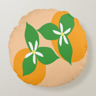 Orange Blossom Round Cushion