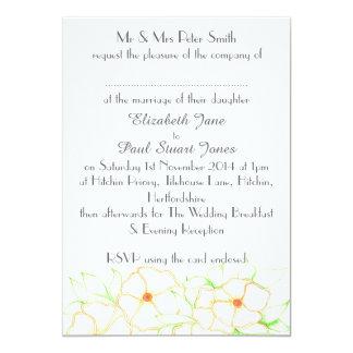 Orange Blossom Wedding Invitation