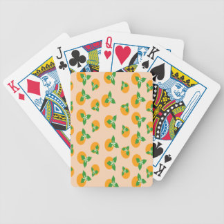 Orange Blossoms Bicycle Poker Cards