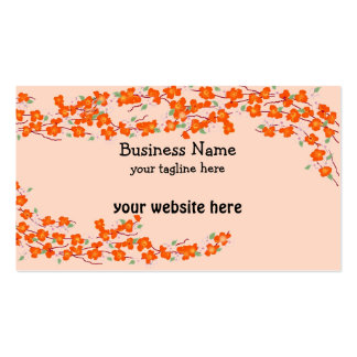 Orange Blossoms Business Card Templates