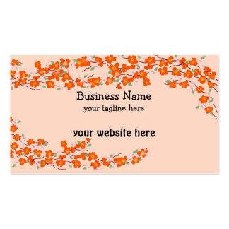 Orange Blossoms Business Card Templates