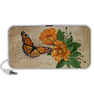 Orange Blossoms Butterfly Travel Speakers