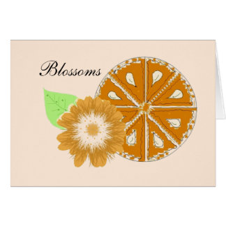 Orange Blossoms Greeting Cards