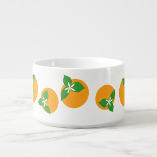 Orange Blossoms Small Soup Bowl With Handle