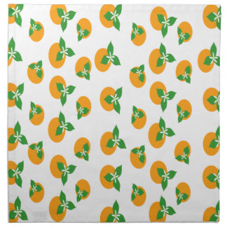 Orange Blossoms Printed Napkins