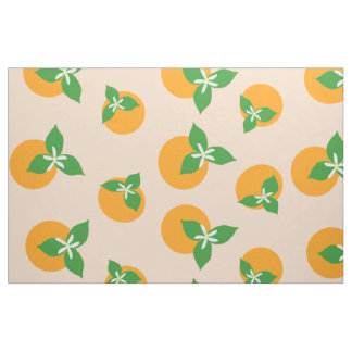 Orange Blossoms Fabric