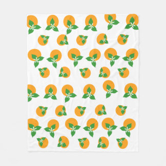 Orange Blossoms Fleece Blanket