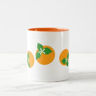 Orange Blossoms Two-Tone Mug