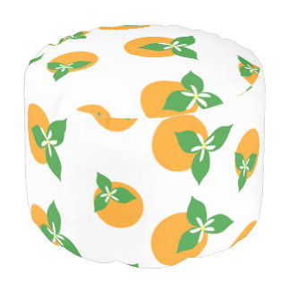 Orange Blossoms Pouf