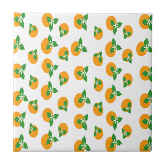 Orange Blossoms Small Square Tile