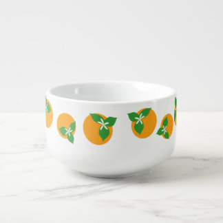 Orange Blossoms Soup Bowl With Handle