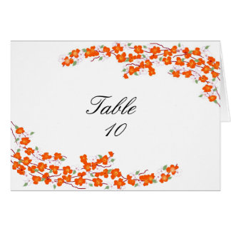 Orange Blossoms Table Seating Card