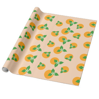 Orange Blossoms Wrapping Paper