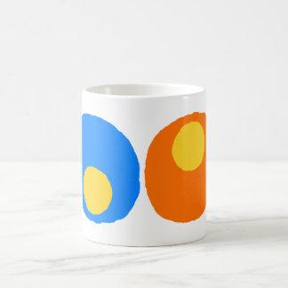 orange,blue and yellow design basic white mug