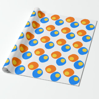 orange,blue and yellow design wrapping paper