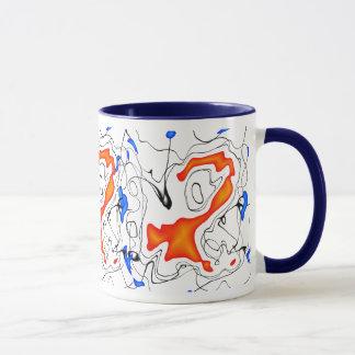 Orange/Blue/Black/White Mug