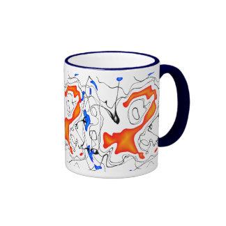 Orange/Blue/Black/White Ringer Mug