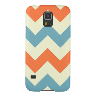 Orange blue chevron zigzag stripes zig zag pattern cases for galaxy s5