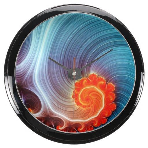 Orange Blue Crush ~ Aqua Clock