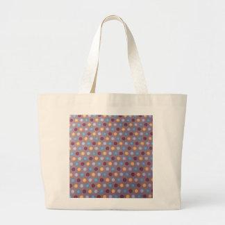 Orange blue maroon dots tote bag