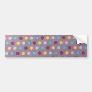 Orange blue maroon dots bumper sticker