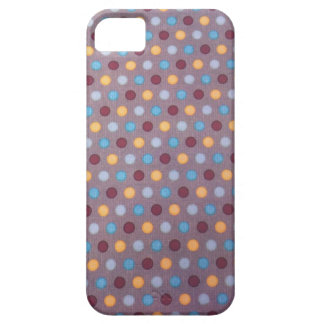 Orange blue maroon dots iPhone 5 cases