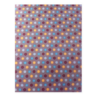 Orange blue maroon dots postcard