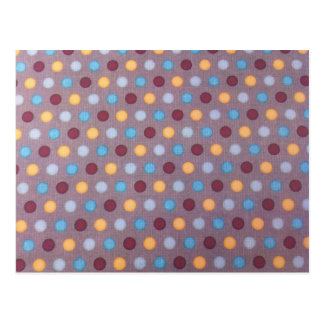 Orange blue maroon dots post cards