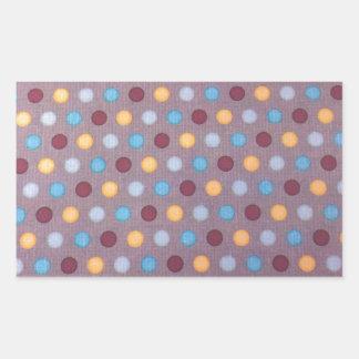 Orange blue maroon dots rectangular sticker