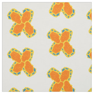 orange-blue-yellow cross design fabric