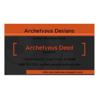 Orange Bracket Tech Business Card