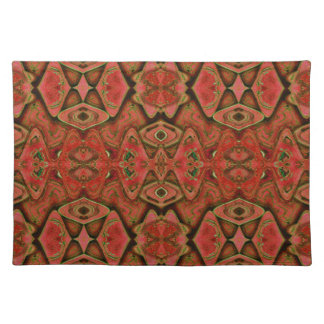 orange brown abstract shapes place mat