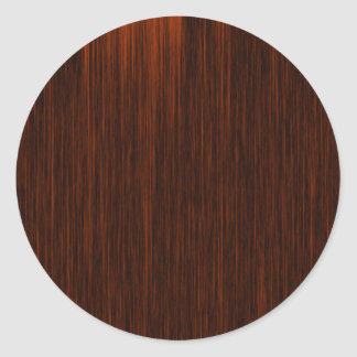 Orange/Brown and Black Lines Pattern Round Sticker