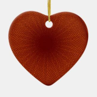 orange brown lime ceramic heart decoration