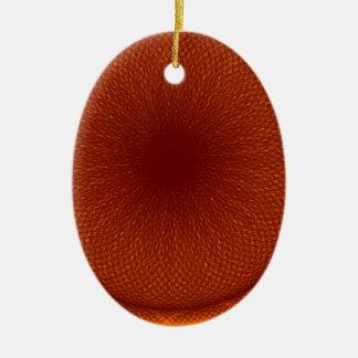orange brown lime christmas tree ornament