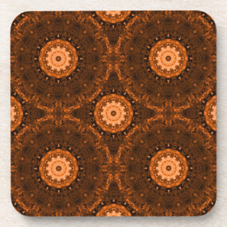 Orange & Brown Mandala Coasters