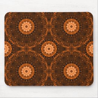 Orange & Brown Mandala Mouse Pad