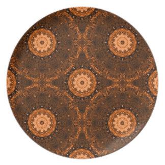 Orange & Brown Mandala Plate