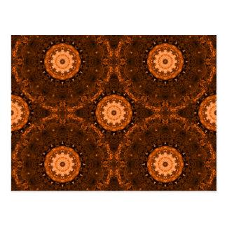 Orange & Brown Mandala Postcards