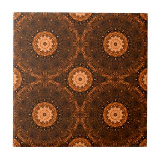Orange & Brown Mandala Ceramic Tiles