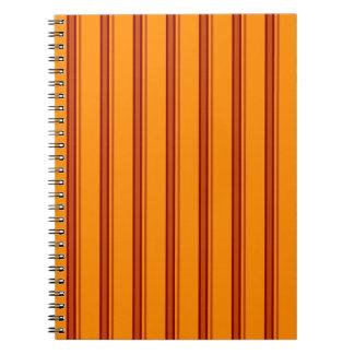 Orange / Brown Stripes Retro - Notebook