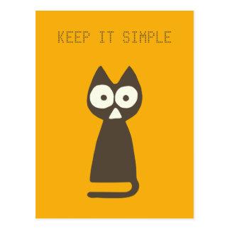 Orange Brown Triangle Symbolic Cat Postcard