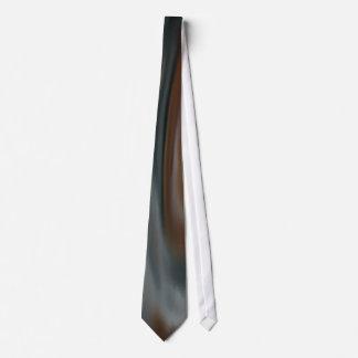 Orange brown White blue Tie