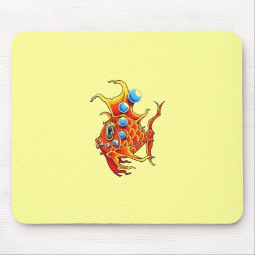 orange bubble fish Mousepad